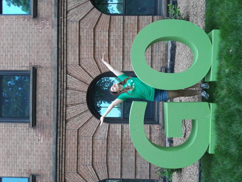 [Posing with the GO letters at GoWeek!]