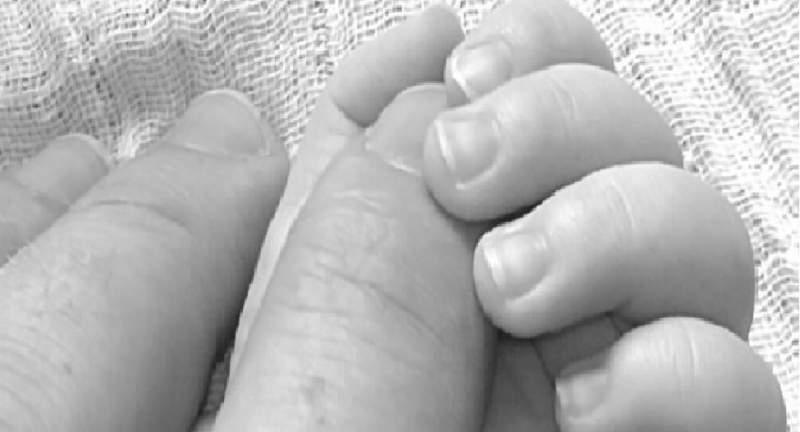 Mother and child hands
